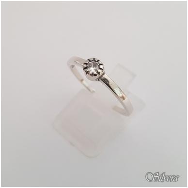 Sidabrinis žiedas su cirkoniu Z148; 18,5 mm