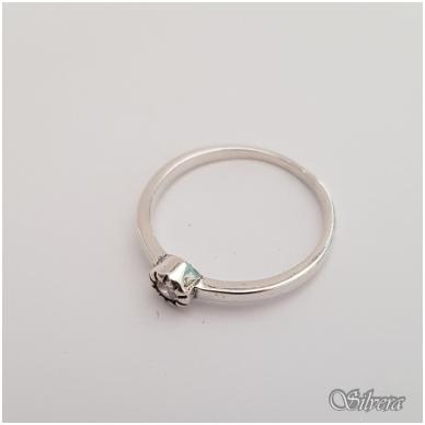 Sidabrinis žiedas su cirkoniu Z148; 18,5 mm 2