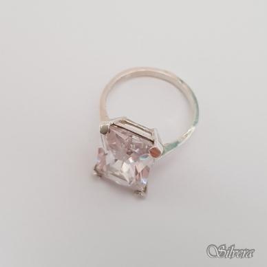 Sidabrinis žiedas su cirkoniu Z158; 17 mm 2