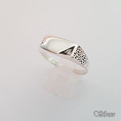Sidabrinis žiedas su cirkoniu Z175; 23 mm
