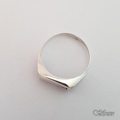 Sidabrinis žiedas su cirkoniu Z175; 23 mm 2