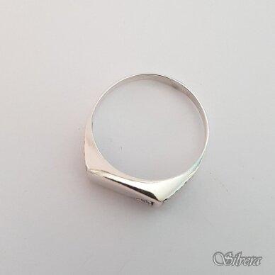 Sidabrinis žiedas su cirkoniu Z175; 23,5 mm 2