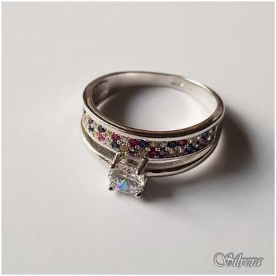 Sidabrinis žiedas su cirkoniu Z2007; 17,5 mm 2