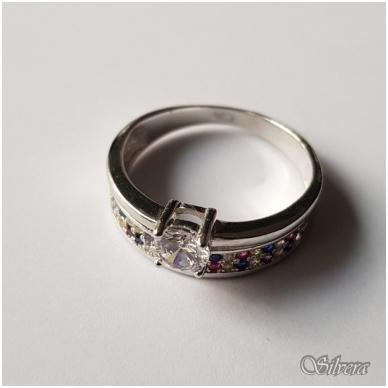 Sidabrinis žiedas su cirkoniu Z2007; 17,5 mm 3