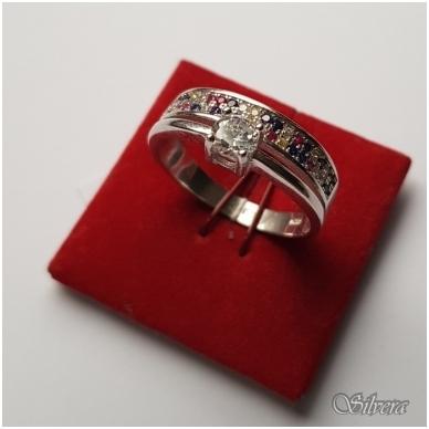 Sidabrinis žiedas su cirkoniu Z2007; 17,5 mm