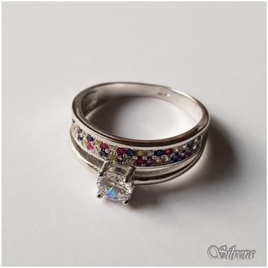 Sidabrinis žiedas su cirkoniu Z2007; 18 mm 2