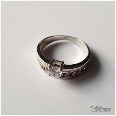 Sidabrinis žiedas su cirkoniu Z2007; 18 mm 3