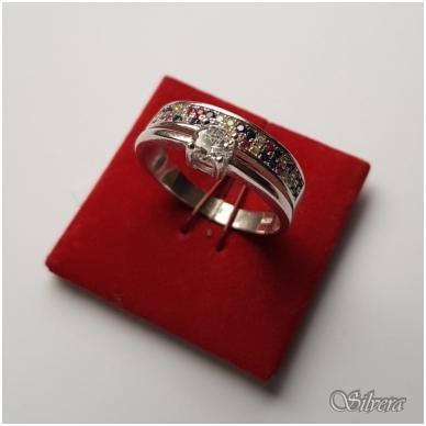 Sidabrinis žiedas su cirkoniu Z2007; 18 mm