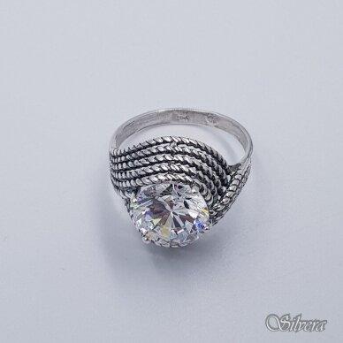 Sidabrinis žiedas su cirkoniu Z240; 19 mm 2