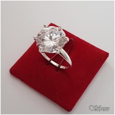 Sidabrinis žiedas su cirkoniu Z3001; 16,5 mm