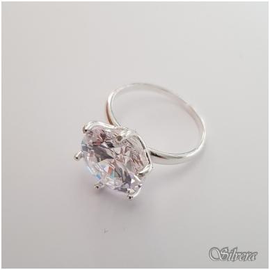 Sidabrinis žiedas su cirkoniu Z3001; 16,5 mm 2