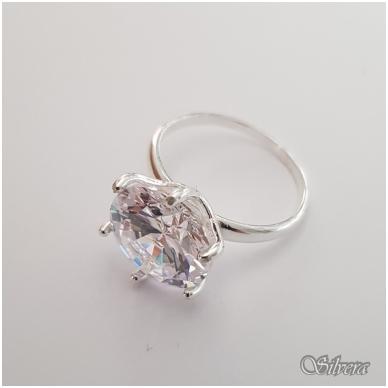 Sidabrinis žiedas su cirkoniu Z3001; 17 mm 2