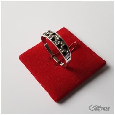 Sidabrinis žiedas su cirkoniu Z1249; 18 mm