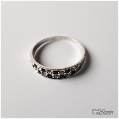 Sidabrinis žiedas su cirkoniu Z1249; 18 mm 2