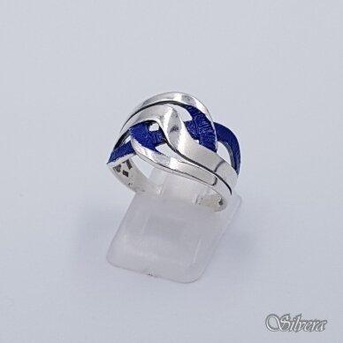 Sidabrinis žiedas su emaliu Z1491; 20 mm