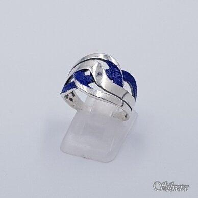 Sidabrinis žiedas su emaliu Z1491; 17 mm