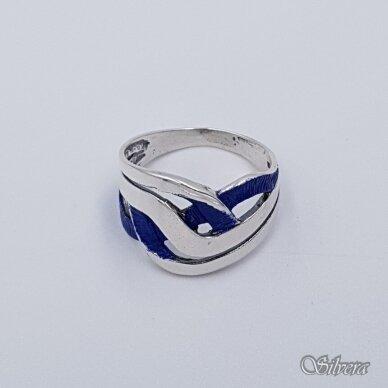 Sidabrinis žiedas su emaliu Z1491; 17 mm 2