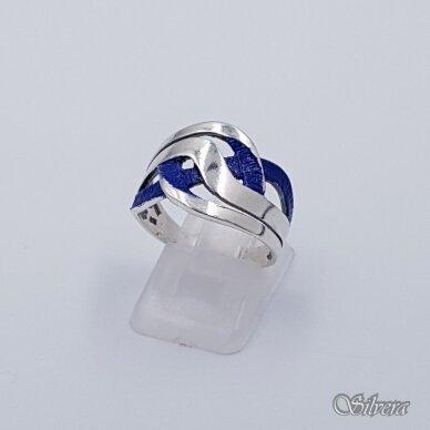 Sidabrinis žiedas su emaliu Z1491; 18,5 mm