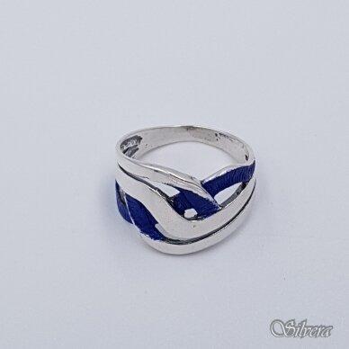 Sidabrinis žiedas su emaliu Z1491; 18,5 mm 2