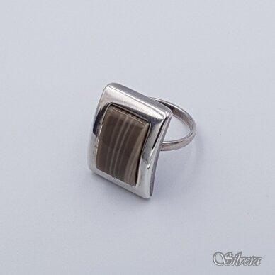 Sidabrinis žiedas su hematitu Z215; 18 mm 2