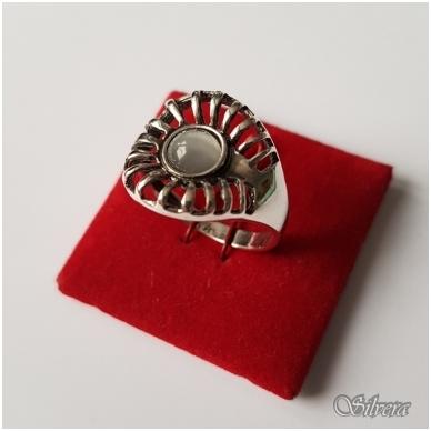 Sidabrinis žiedas su katės akies akmeniu Z060; 18,5 mm