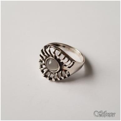 Sidabrinis žiedas su katės akies akmeniu Z060; 18,5 mm 2