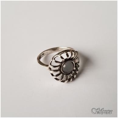 Sidabrinis žiedas su katės akies akmeniu Z060; 18,5 mm 3
