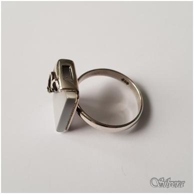 Sidabrinis žiedas su katės akies akmeniu Z067; 18,5 mm 3