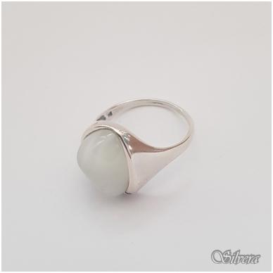 Sidabrinis žiedas su katės akies akmeniu Z1021; 18,5 mm 2