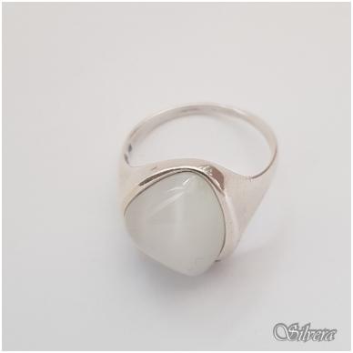 Sidabrinis žiedas su katės akies akmeniu Z1021; 18,5 mm 3