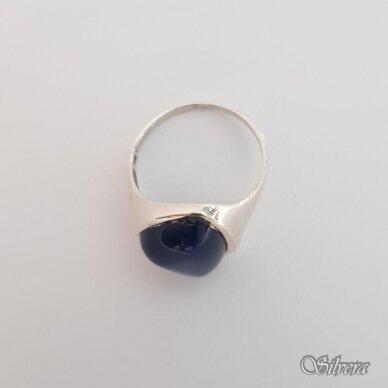 Sidabrinis žiedas su katės akies akmeniu Z112; 18,5 mm 2