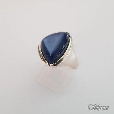 Sidabrinis žiedas su katės akies akmeniu Z115; 18,5 mm