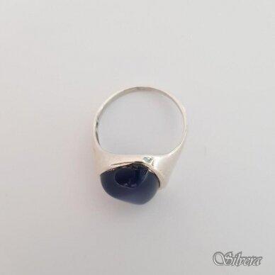 Sidabrinis žiedas su katės akies akmeniu Z115; 18,5 mm 2
