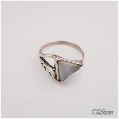 Sidabrinis žiedas su katės akies akmeniu Z1173; 18 mm 2