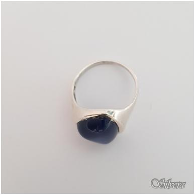 Sidabrinis žiedas su katės akies akmeniu Z1299; 18,5 mm 2