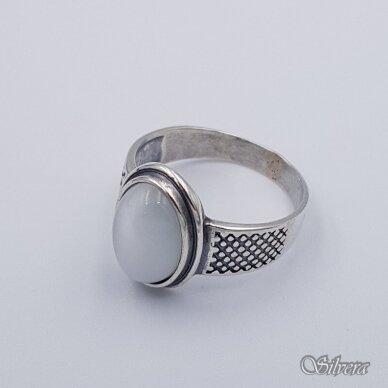 Sidabrinis žiedas su katės akies akmeniu Z198; 20 mm 3
