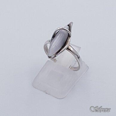 Sidabrinis žiedas su katės akies akmeniu Z1251; 17 mm