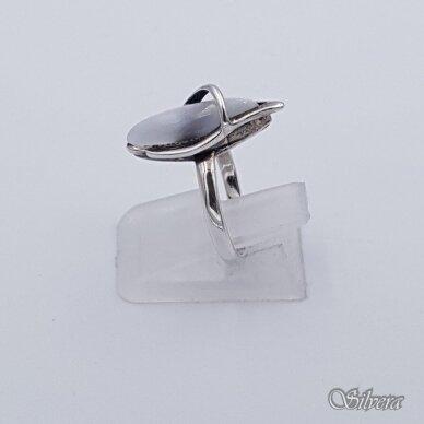 Sidabrinis žiedas su katės akies akmeniu Z1251; 17 mm 2