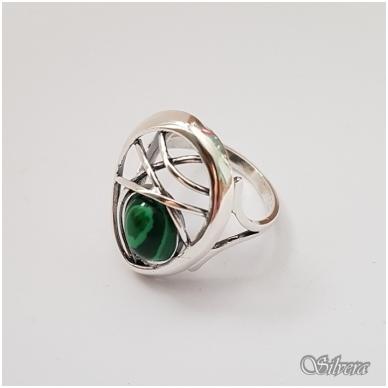 Sidabrinis žiedas su malachitu Z1258; 19,5 mm 2