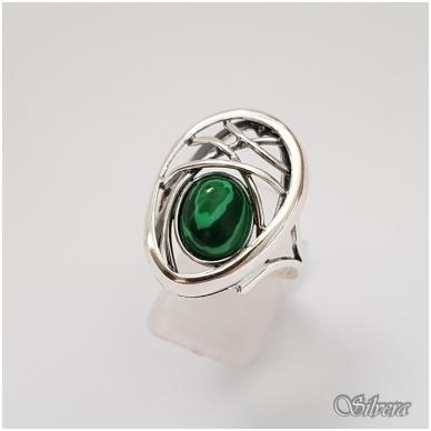 Sidabrinis žiedas su malachitu Z1258; 19,5 mm