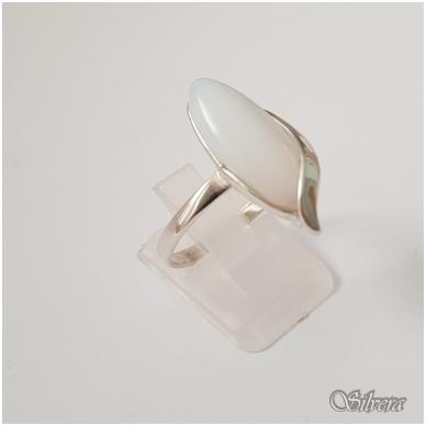 Sidabrinis žiedas su mėnulio akmeniu Z1259; 18 mm 2