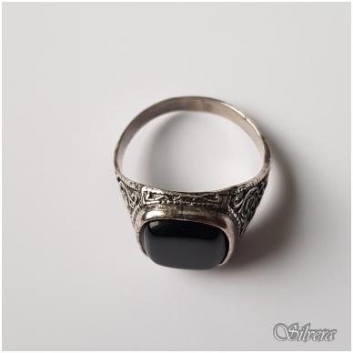 Sidabrinis žiedas su oniksu Z050; 21,5 mm 3