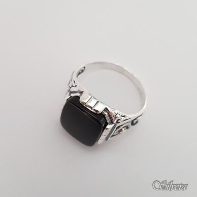 Sidabrinis žiedas su oniksu Z150; 22,5 mm 3