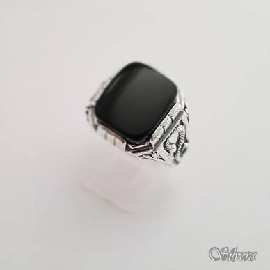 Sidabrinis žiedas su oniksu Z150; 23 mm