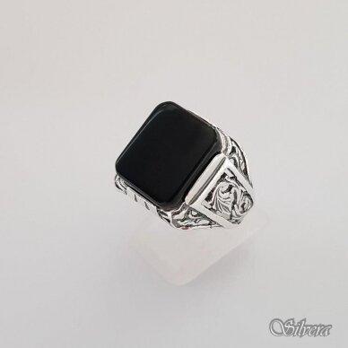 Sidabrinis žiedas su oniksu Z151; 20 mm