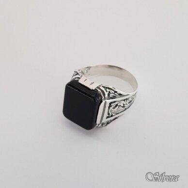 Sidabrinis žiedas su oniksu Z151; 20 mm 3