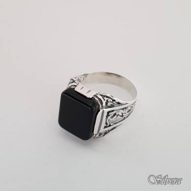 Sidabrinis žiedas su oniksu Z151; 21 mm 3