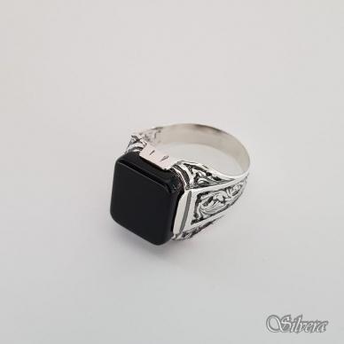 Sidabrinis žiedas su oniksu Z151; 21,5 mm 3
