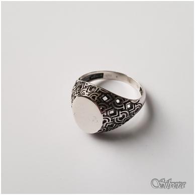Sidabrinis žiedas Z048; 22 mm 2