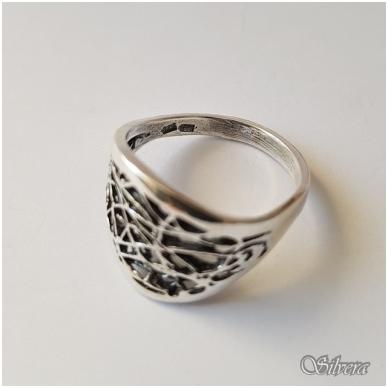 Sidabrinis žiedas Z1076; 17 mm 2